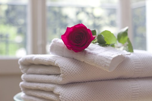 rose on a towel idk why